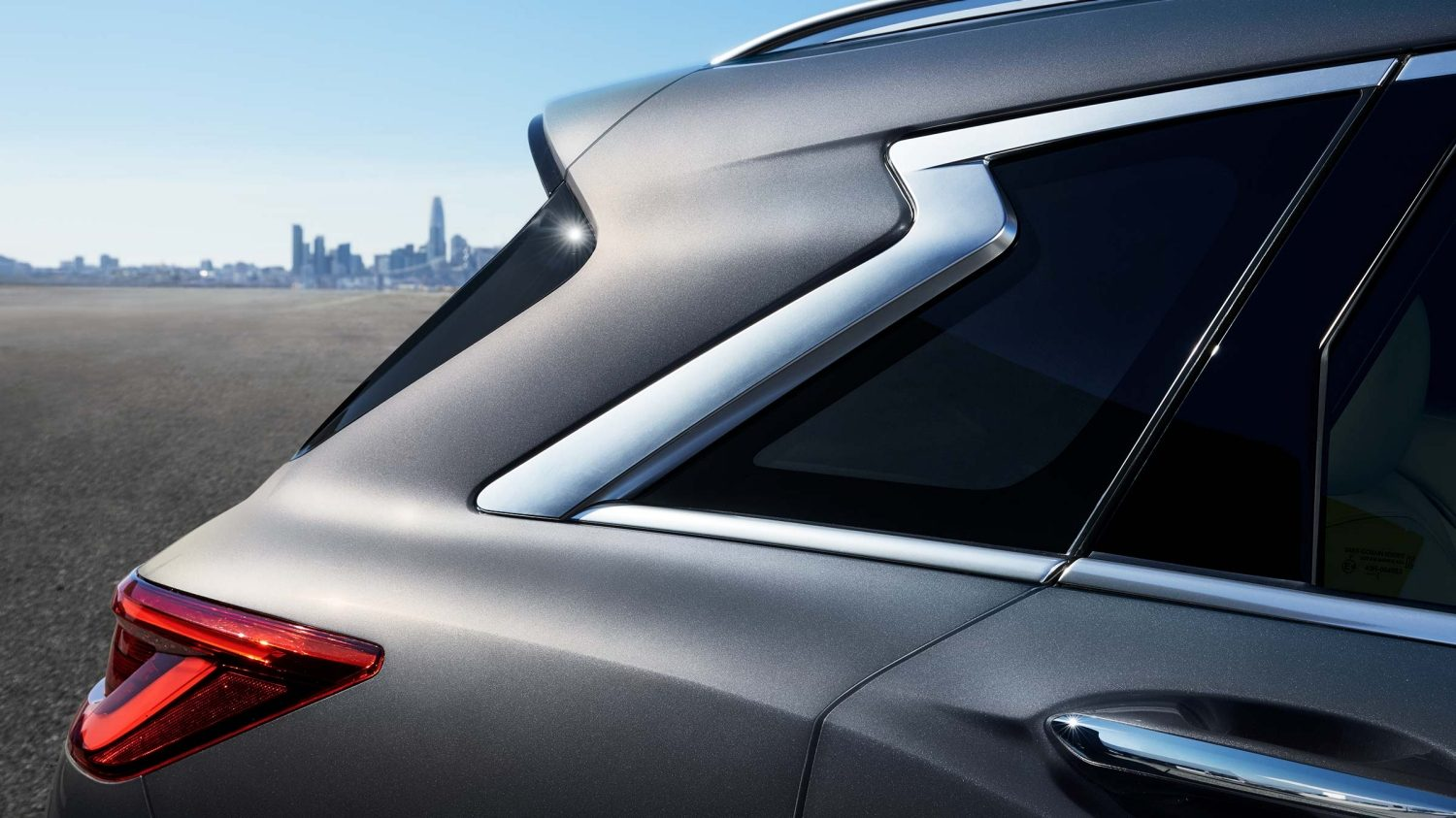 2019 INFINITI QX50 Luxury Crossover D Pillar Exterior Accent
